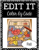 EDITABLE Color by Code: Fall (FREEBIE Sample!)