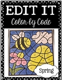 EDITABLE Color by Code: Spring (FREEBIE Sample!)