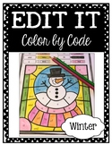 EDITABLE Color by Code: Winter