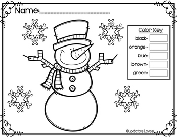 EDITABLE Color by Sight Word: Winter Edition