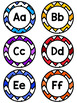 EDITABLE Colorful Chevron Word Wall Cards- 200 Teachers College Sight Words