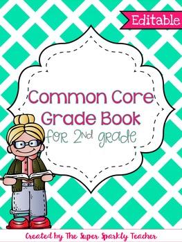 EDITABLE Common Core Grade Book {2nd Grade}