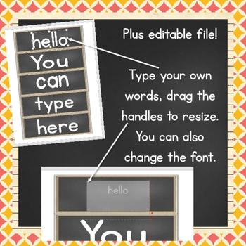 EDITABLE Common Sight Words Word Wall {Print}