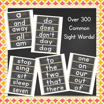 EDITABLE Common Sight Words Word Wall {Print}