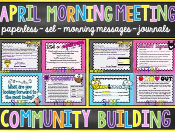 EDITABLE PAPERLESS April Community Building Morning Meetings