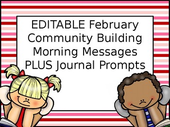 EDITABLE PAPERLESS February Community Building Morning Meetings