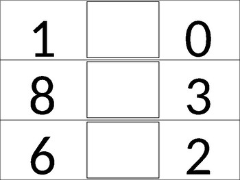 EDITABLE Comparing Numbers Strips