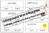 EDITABLE Compound word puzzles