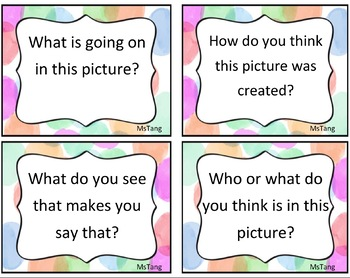 EDITABLE Comprehension Task Cards - Visual Literacy