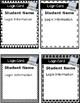 EDITABLE Computer Login Cards