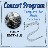 EDITABLE Concert Program Template!