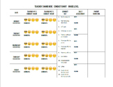 EDITABLE Conduct Chart with Conduct Key