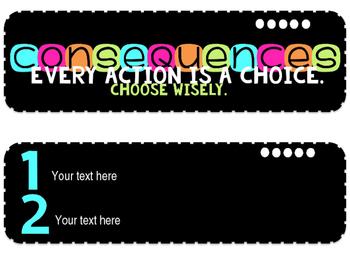 EDITABLE Consequences - Color Theme