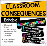 Classroom Consequences - Editable