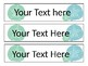 EDITABLE Coral and Seashell 3 Drawer Labels