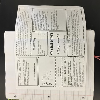 EDITABLE Course Guide for Interactive Science Notebooks