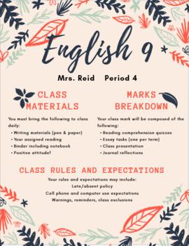 EDITABLE Course Syllabus Package