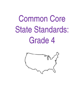 EDITABLE Cover for CCSS Binder
