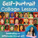Colorful Self-Portrait Collages