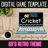 EDITABLE Cricket Game Template | 80's Retro Theme Edition