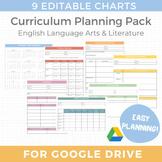 EDITABLE Curriculum Planning Templates for English Literat