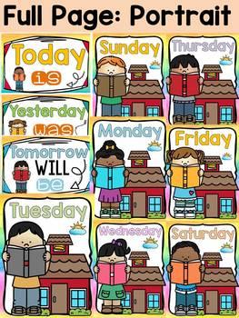 EDITABLE DAYS OF THE WEEK: CLASS DECOR: READING THEME