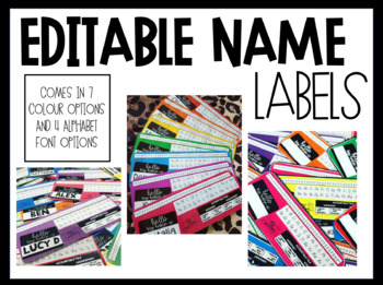 EDITABLE DESK LABELS FOR EARLY PRIMARY