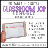 EDITABLE + DIGITAL | Classroom Job Tracker