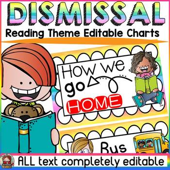 EDITABLE DISMISSAL CHARTS: READING THEME