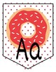EDITABLE: DONUT BANNER (alphabet, colors, signs)