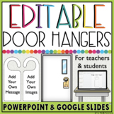 EDITABLE DOOR HANGERS IN GOOGLE SLIDES™ and POWERPOINT