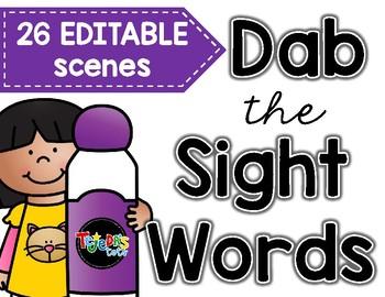 EDITABLE: Dab the Sight Words