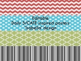 EDITABLE ~ Daily 5/ CAFE inspired posters