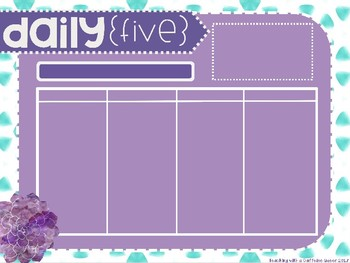EDITABLE Daily 5 & Daily 3 Rotations Boards with Timers Succulent Watercolor