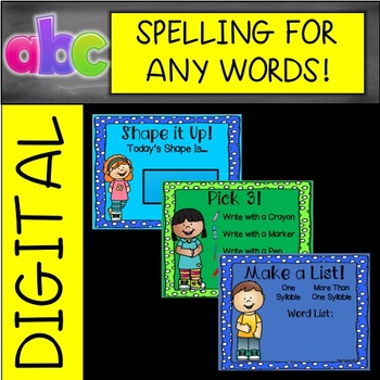 EDITABLE Daily Digital Spelling for ANY Words