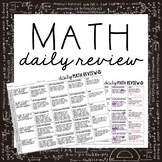 EDITABLE Daily Math Review
