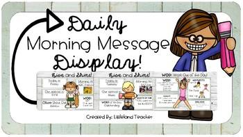 EDITABLE Daily Message Display!