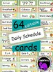 EDITABLE Daily Schedule Cards {Colorful Birds Theme}