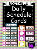 EDITABLE Daily Schedule Cards {Elementary Classroom}