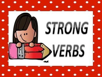 EDITABLE Dead vs Strong Verbs Word Wall