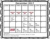 EDITABLE December Calendar