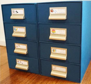 EDITABLE Desk Drawer Labels (ideal for Officeworks cloth drawers)