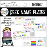 EDITABLE Desk Name Tags / Desk Name Plates / Desk Toppers