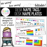 EDITABLE Desk Name Tags / Desk Name Plates / Desk Toppers