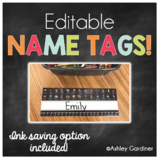 EDITABLE - Desk Name Tags / Name Plates