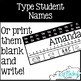 EDITABLE Desk Name Tags with Daily Five check-in!