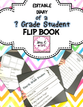 EDITABLE Diary of a __ Grade Student
