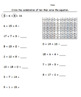 EDITABLE Differentiated Grouping 10 Addition Worksheet With Hundreds Chart