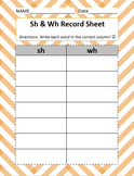 EDITABLE Differentiated Sh & Wh Bundle- Word Sorts, Pictur