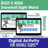 EDITABLE Digital Build a Snowball Noun Sight Word Mini Bun